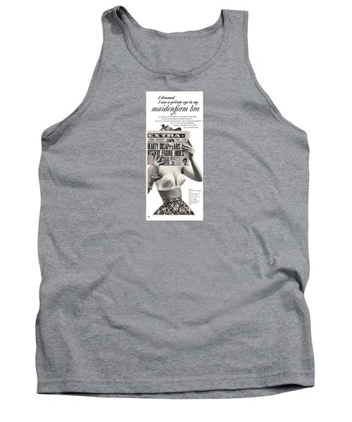 I Dreamed I Was  Private Eye In My Maidenform Bra Tank Top