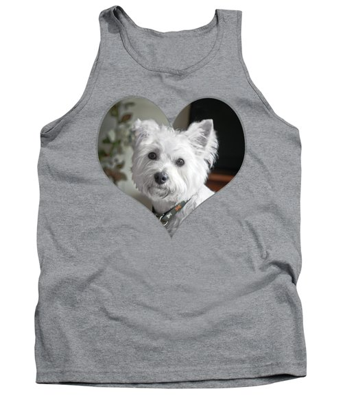 I Heart Puppy On A Transparent Background Tank Top by Terri Waters