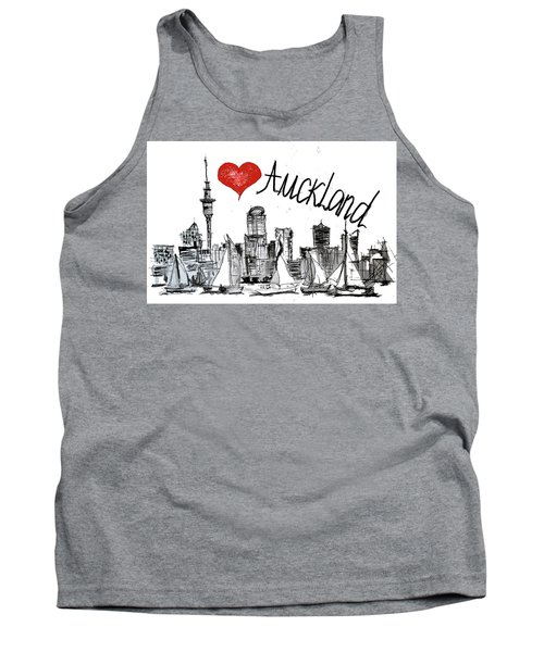 I Love Auckland  Tank Top