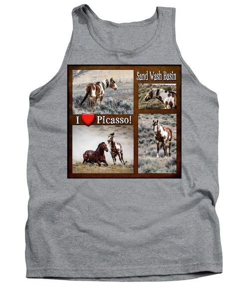 I Love Picasso Collage Tank Top by Nadja Rider