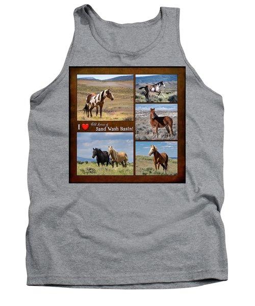 I Love Wild Horses Of Sand Wash Basin Tank Top
