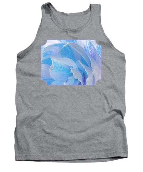 Ice Blue Amaryllis Abstract Tank Top