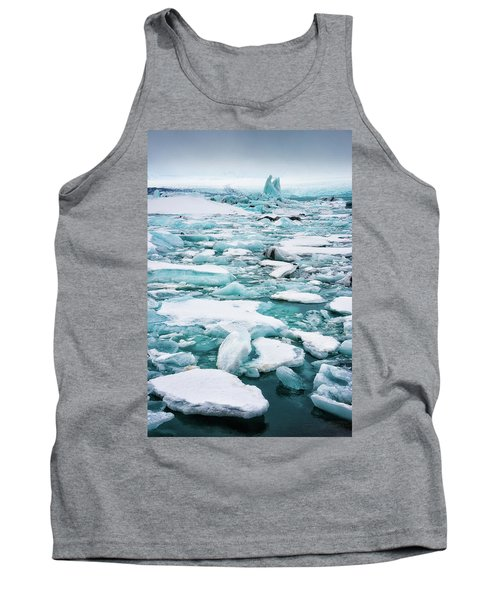 Tank Top featuring the photograph Ice Galore In The Jokulsarlon Glacier Lagoon Iceland by Matthias Hauser