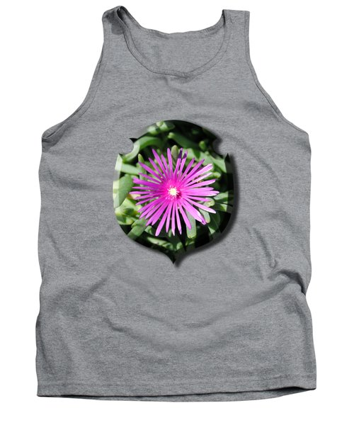 Ice Plant T-shirt Tank Top by Isam Awad