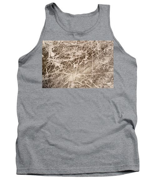 Tank Top featuring the photograph Ice Skating Marks by John Williams