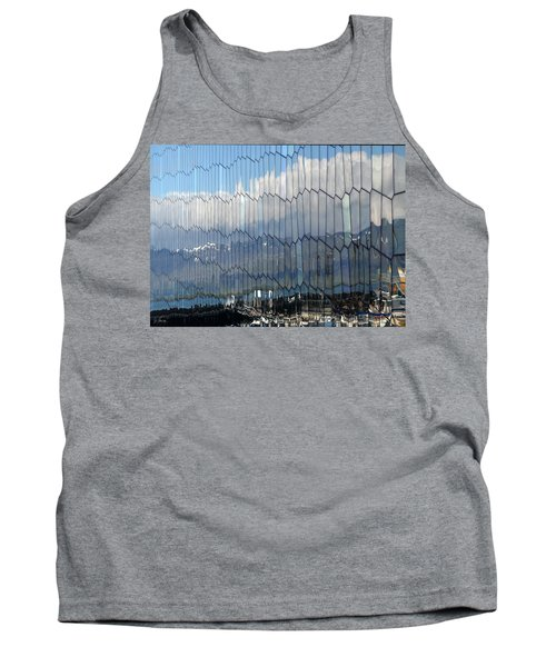 Tank Top featuring the photograph Iceland Harbor And Mountains by Joe Bonita