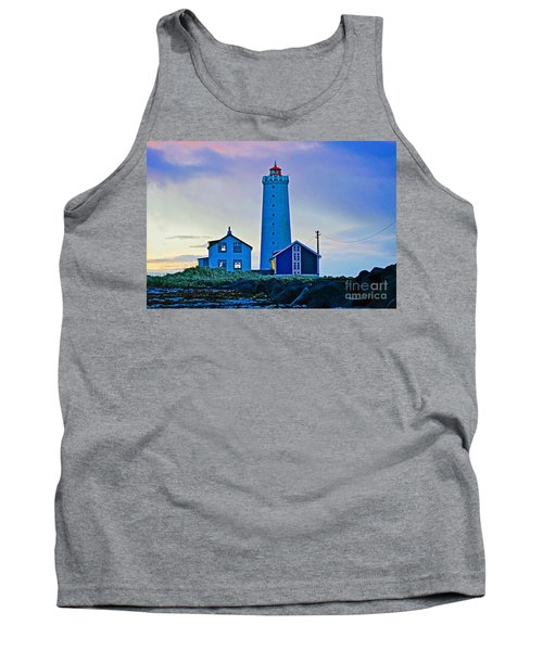 Iceland Lighthouse Tank Top by Michael Cinnamond