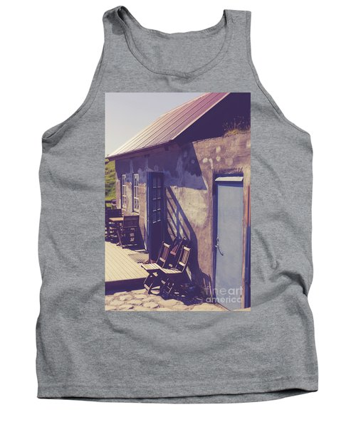 Tank Top featuring the photograph Icelandic Cafe by Edward Fielding