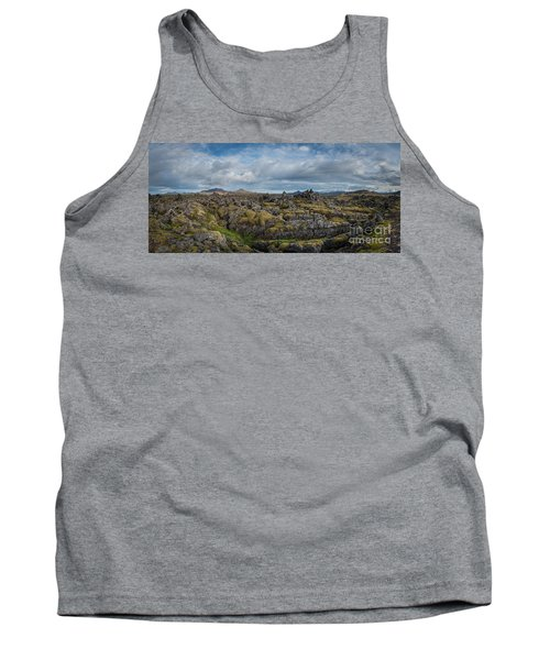 Icelands Mossy Volcanic Rock Tank Top