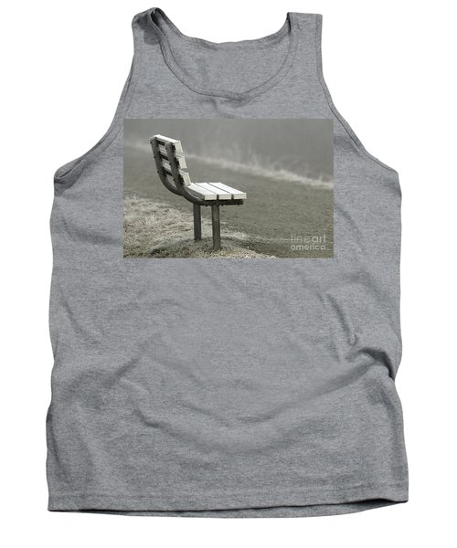 Icy Bench In The Fog Tank Top