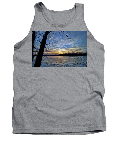 Tank Top featuring the photograph Icy River by Cricket Hackmann