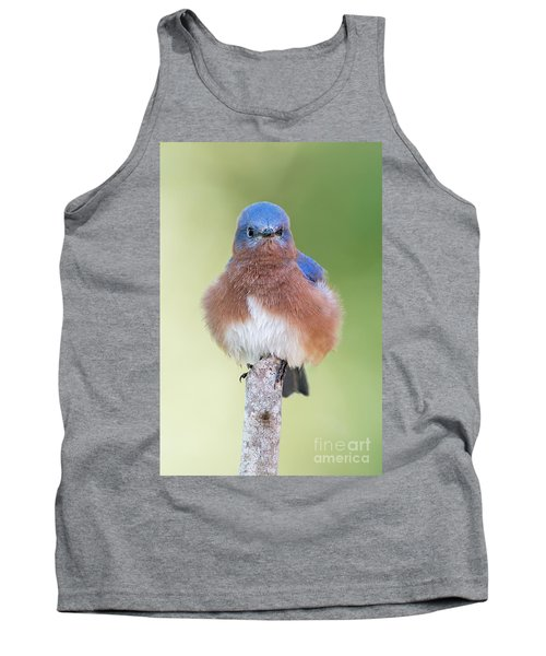 Tank Top featuring the photograph I May Be Fluffy But I'm No Powder Puff by Bonnie Barry