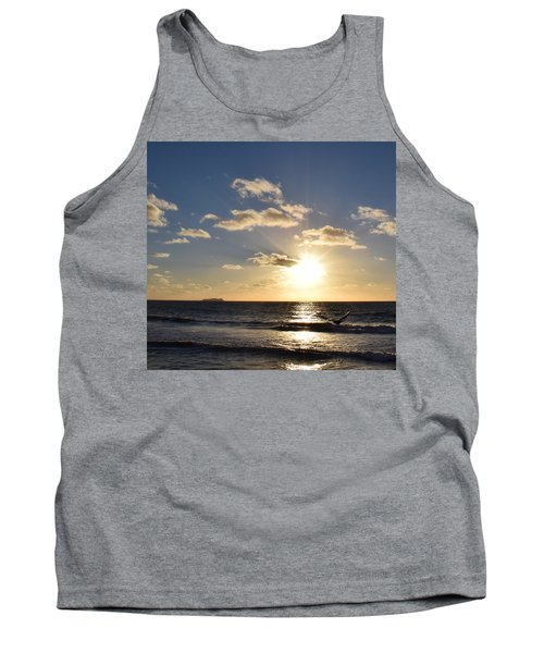 Sunset Reflection At Imperrial Beach Tank Top