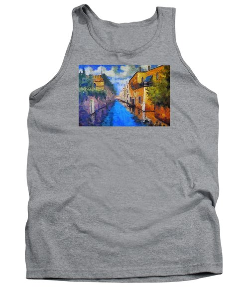 Impressionist D'art At The Canal Tank Top by Mario Carini
