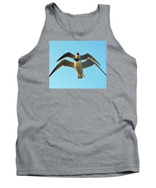 Tank Top featuring the photograph In Tandem At Sunset by Sandi OReilly