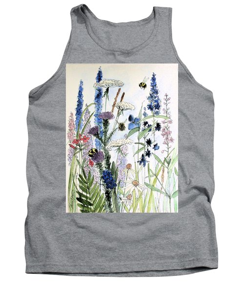 Tank Top featuring the painting In The Garden by Laurie Rohner