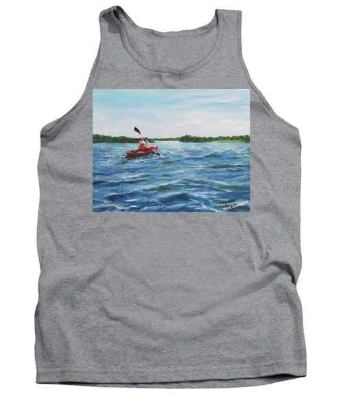Tank Top featuring the painting In The Kayak by Jack Skinner