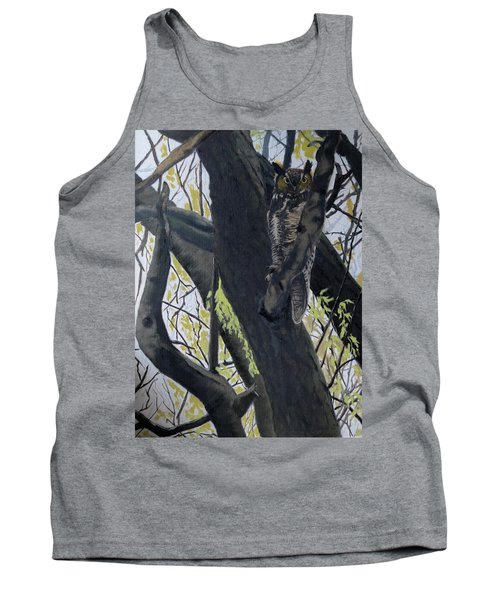 In The Shadow-ojibway Great Horn Owl Tank Top