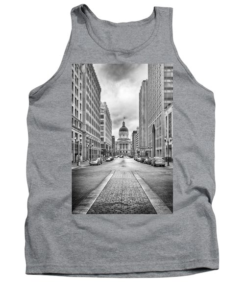 Tank Top featuring the photograph Indiana State Capitol Building by Howard Salmon