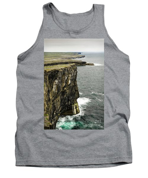Tank Top featuring the photograph Inishmore Cliffs And Karst Landscape From Dun Aengus by RicardMN Photography