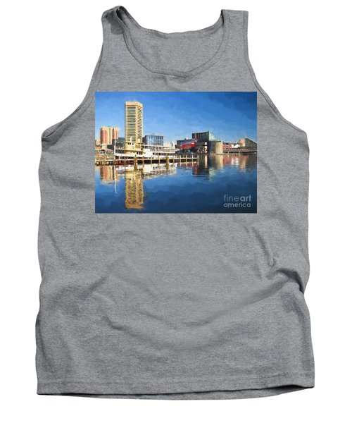 Inner Harbor Reflections  Tank Top
