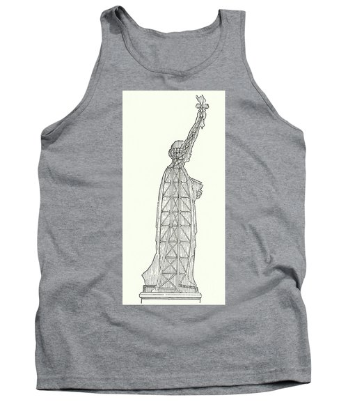 Inner Structure Of The Statue Of Liberty Tank Top