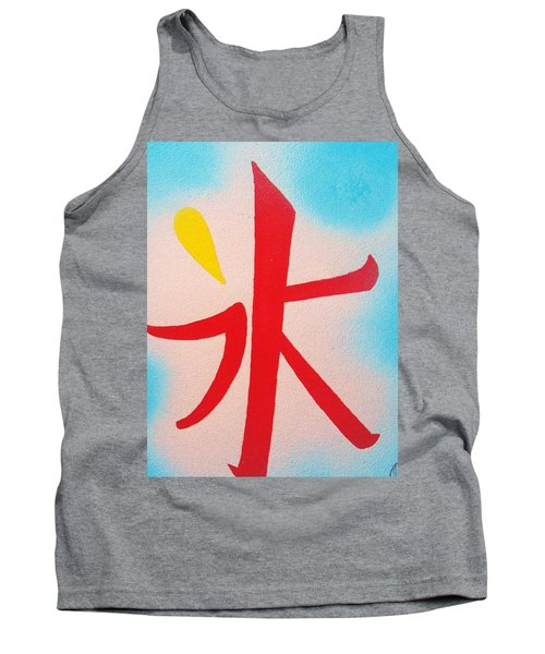 Tank Top featuring the painting Inochi No Mizu No Himitsu by Roberto Prusso