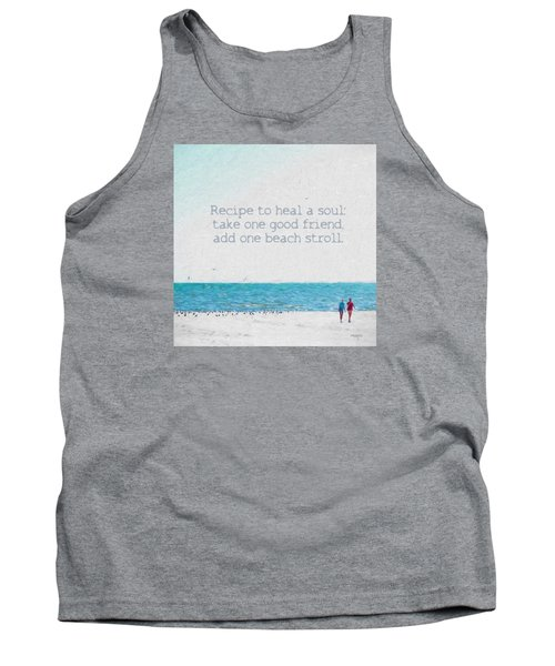 Inspirational Beach Quote Seashore Coastal Women Girlfriends Tank Top
