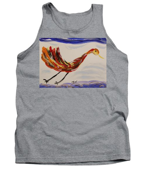 Inspired By Calder's Only Only Bird Tank Top by Mary Carol Williams