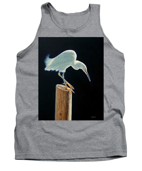 Interlude - Snowy Egret Tank Top