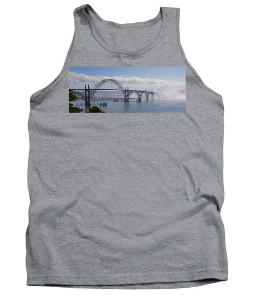 Tank Top featuring the photograph Into The Fog At Newport by Mick Anderson