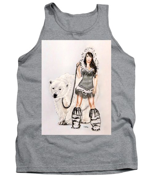Inuit Pin-up Girl Tank Top