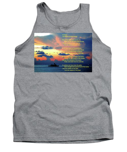 Invictus By William Ernest Henley Tank Top
