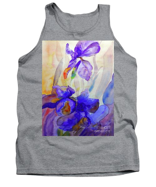Tank Top featuring the painting Iris by Jasna Dragun