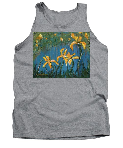 Tank Top featuring the painting Irises by Jamie Frier