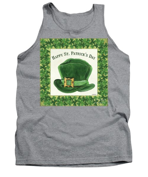 Tank Top featuring the painting Irish Cap by Debbie DeWitt