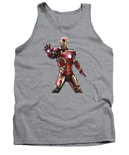 Iron Man Splash Super Hero Series Tank Top
