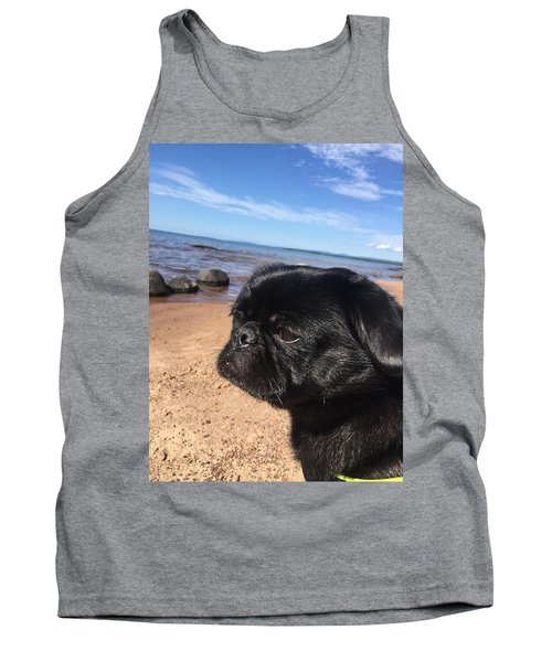 Is This My Good Side? Tank Top by Paula Brown