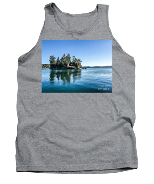 Island In West Sound Tank Top