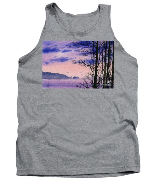 Tank Top featuring the painting Island Point by James Williamson