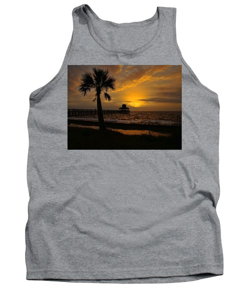 Island Sunrise Tank Top by Judy Vincent