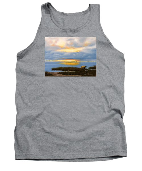 Tank Top featuring the painting Island Sunset by Rick McKinney