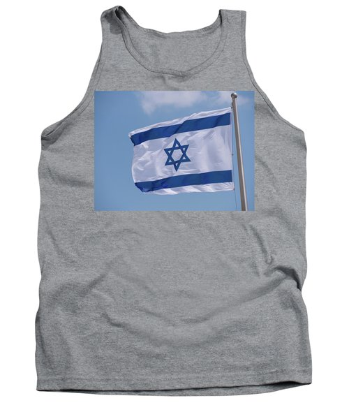 Israeli Flag In The Wind Tank Top
