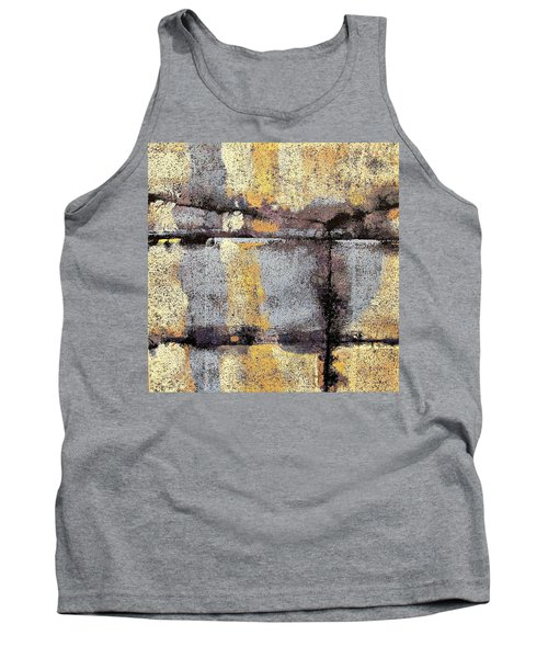 Tank Top featuring the painting Jagged Lavendar by Maria Huntley