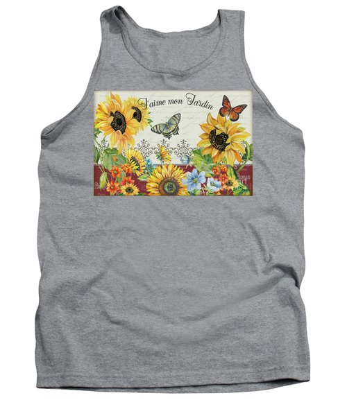 Tank Top featuring the painting Jaime Mon Jardin-jp3990 by Jean Plout