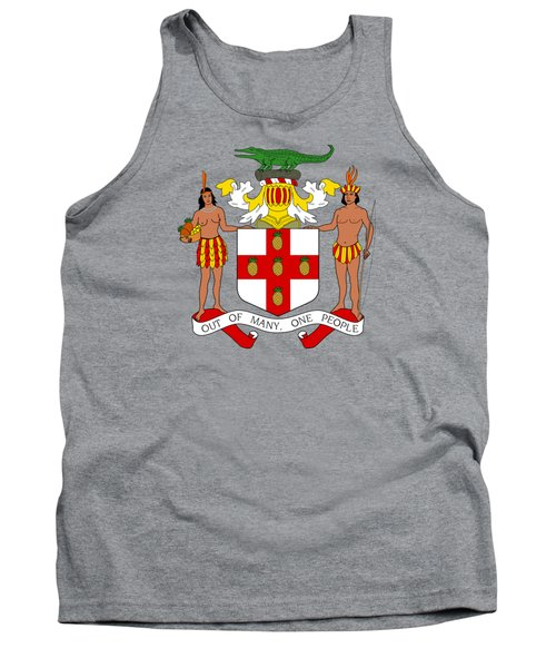 Tank Top featuring the drawing Jamaica Coat Of Arms by Movie Poster Prints