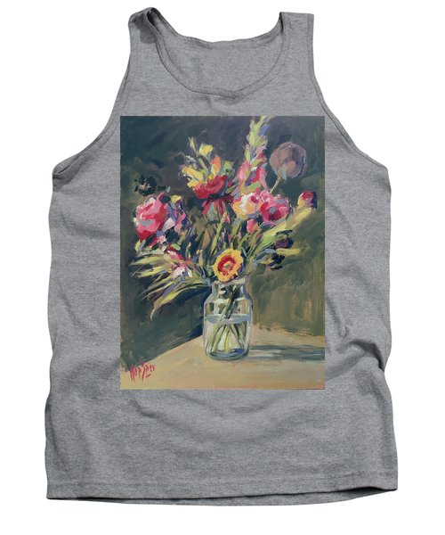 Jar Vase With Flowers Tank Top