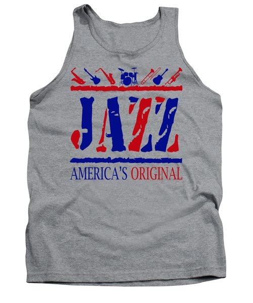 Jazz Americas Original Tank Top by David G Paul