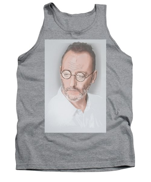 Tank Top featuring the mixed media Jean Reno by TortureLord Art