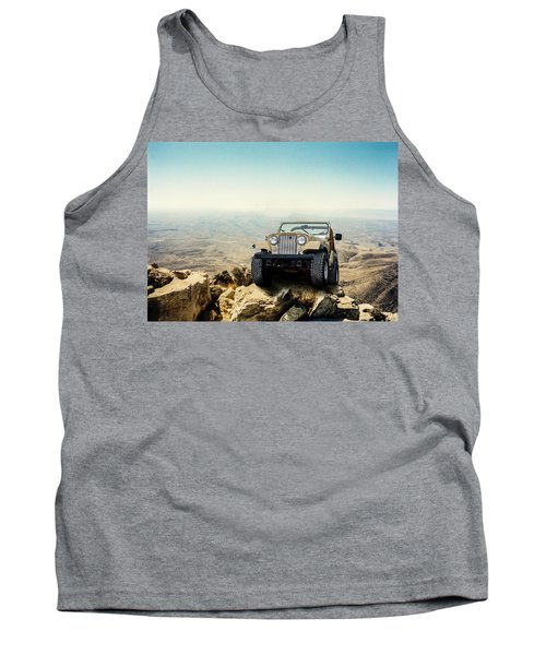 Jeep On A Mountain Tank Top
